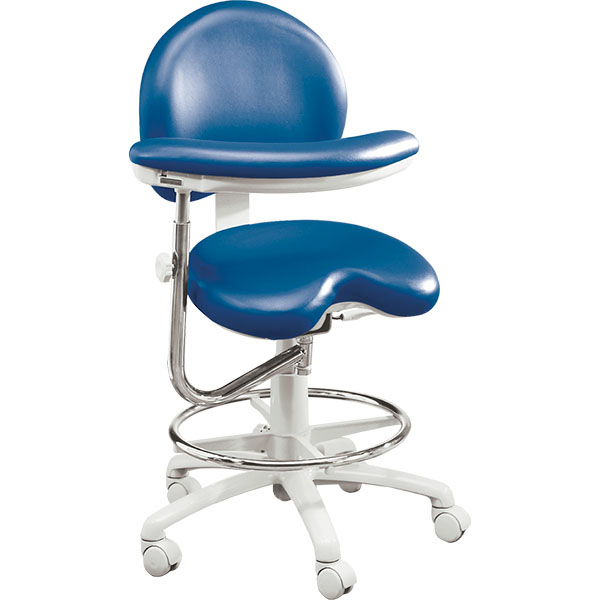 Brewer 9020 Ergonomic Assistant Stool Collins Dental