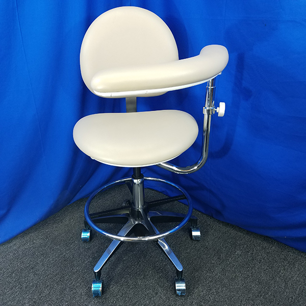 Belmont Assistant Stool with Back Front View