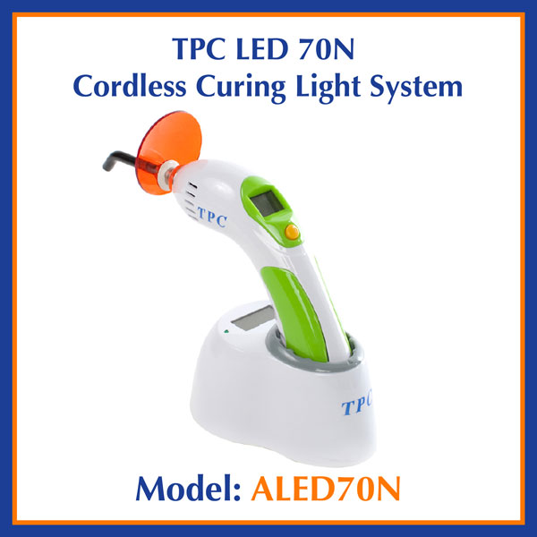 TPC Dental LED 70N Cordless Curing Light System ALED70N
